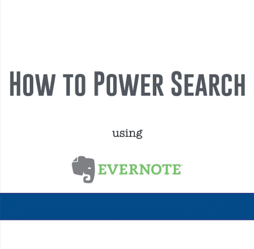 How to Search in Evernote